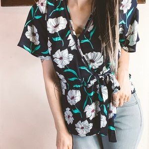 Sienna Sky Floral Blouse Small